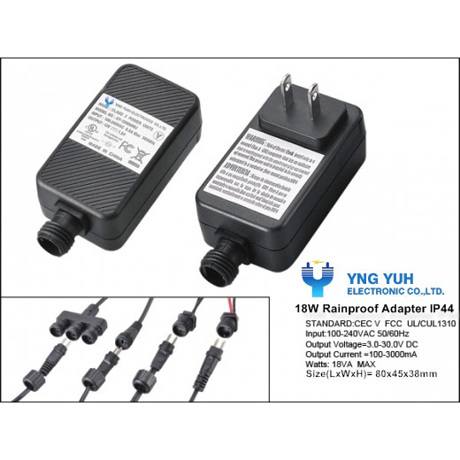 Waterproof AC Adapters